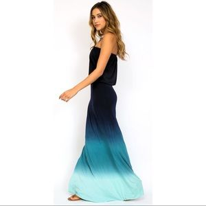 Young fabulous and broke strapless maxi dress s
